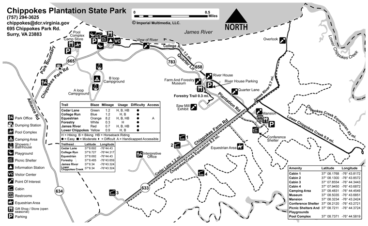 Chippokes Park Map